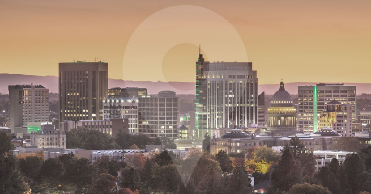 A picture of Boise with the logo for This is Boise